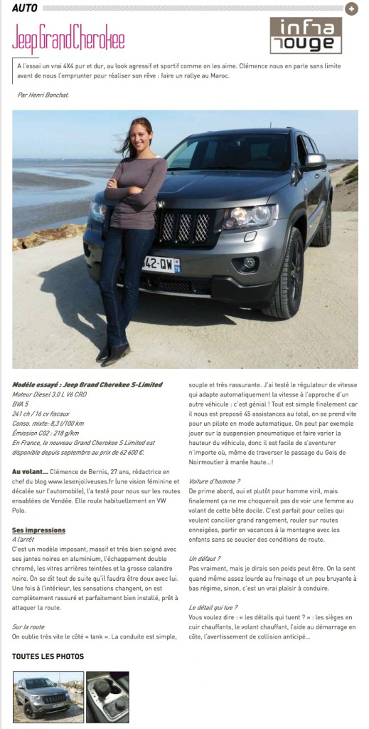Jeep, Grand Cherokee, S Limited, essai, noirmoutiers, 4x4, infrarouge