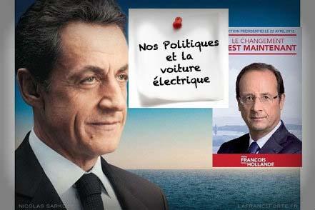 François Hollande, Nicolas Sarkozy, voiture électrique, Elysées, politique