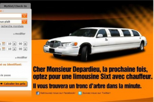 Sixt, Gerard Depardieu, limousine, avion, incident