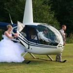 Hélicoptère, mariage, robe de mariée, amour, idée