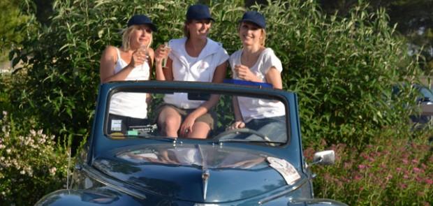 Rallye des princesses, Clémence de Bernis, Julie Gayet, Sidonie Ferrandi, Peugeot 203