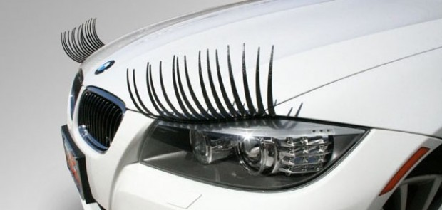 voiture, car lashes, phares, faux cils, glamour