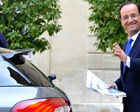 François Hollande, Citroën, DS5, infraction, code de la route