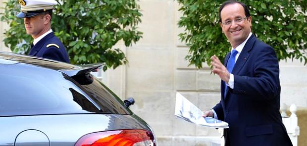 François Hollande, Citroën, DS5, infraction, code de la route