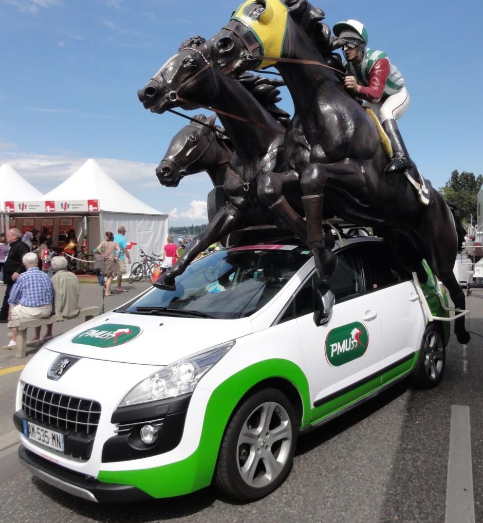 Peugeot, Pmu, caravane, cadeau, present, carnavale