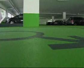 parking, triberg, allemagne, femme, homme