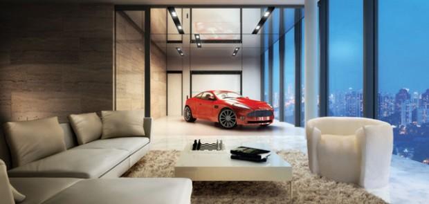 Tendance sky garage votre bolide dans votre salon for Style deco salon appartement