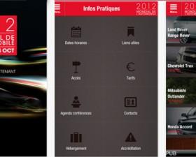 Mondial de l'auto, 2012, Paris, application iphone, pratique,