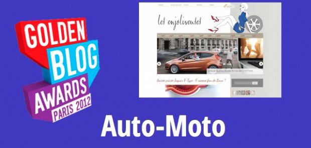 concours, golden blog awards, 2012, auto-moto, blog de femmes