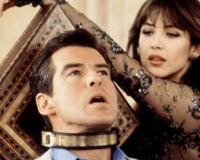 Sophie Marceau, sexy, Pierce Brosnan, James Bond, james bond girl, 007