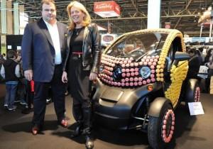 Pierre Hermé, Renault, Twizy, macarons, salon du chocolat, voiture de femme