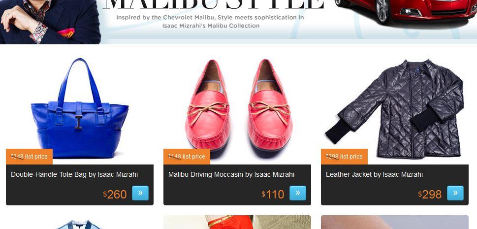 Chevrolet, Malibu, collection, mode, haute couture, luxe, isaac Mizrahi