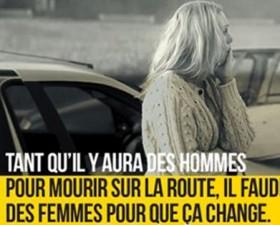 sécurité routière, campagne, prévention, femme au volant, assurance auto, voiture de femme