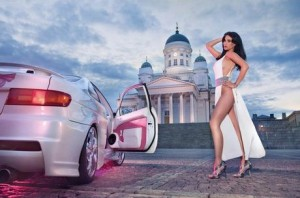 calendrier, miss tuning, surprise, nouvel an, sexy, voiture, femme