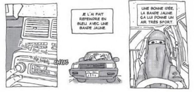 voiture d'Intisar, yémen, femme, voiture de femme, BD,