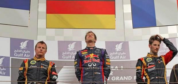 Grand Prix, F1, Bahrein, formule 1, vettel, raikkonen, grosjean, course, pilote, champion, podium
