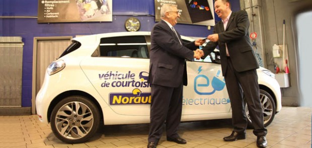 Renault ZOE, Norauto, mobivia, mobivia groupe, partenariat, flotte auto, écolo, voiture électrique, voiture femme