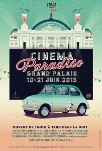 cinéma, film, drive-in, Fiat 500, Fiat, 500, grand palais, paris