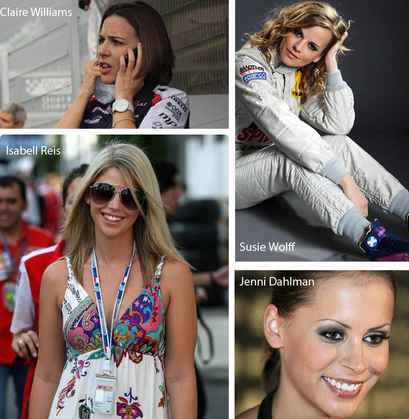femmes sexy F1, F1, formule 1, femme F1, femme paddock, claire williams, susie wolff, isabell reis, jennie dahlman