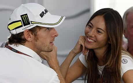Jessica michabata, jenson button, amour, F1, formule 1, femme F1, femme paddock, sexy, Top 10