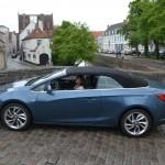 Opel, cascada, opel cascada, essai, cabriolet, décapotable, bruges, voiture femme