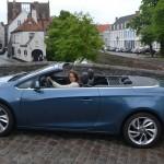 Opel, cascada, opel cascada, essai, cabriolet, décapotable, bruges, voiture femme, clémence de bernis