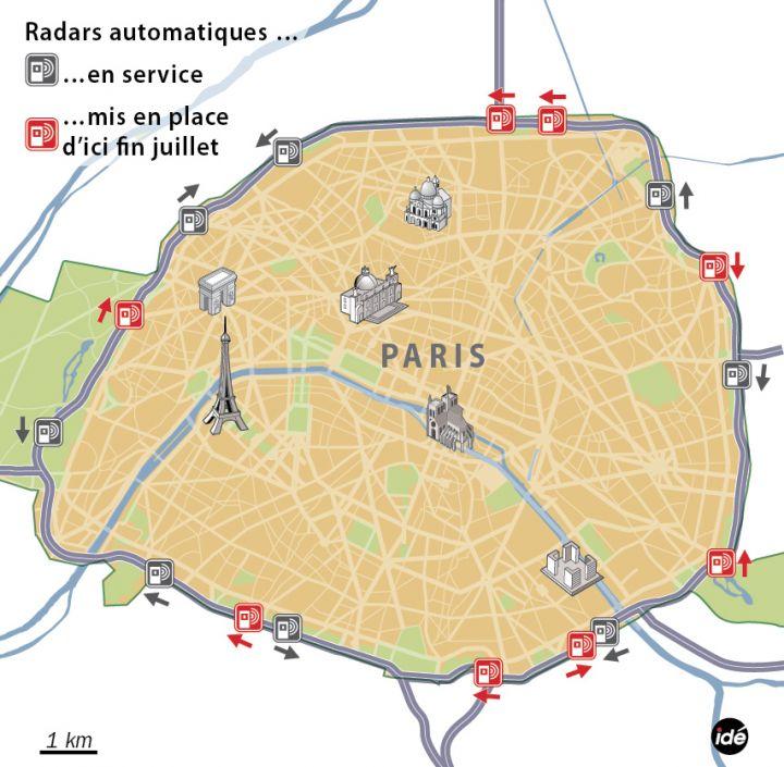 radars, périphérique, paris, sécurité routière, radars fixe