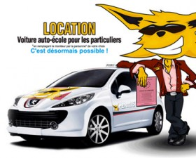 voiture à double commande, location voiture, permis de conduire, location, pas cher, économie