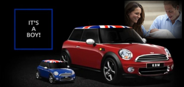 Royal baby, Mini, Cooper, pub, citadine, britannique, kate middelton, Prince william, george