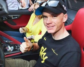 chris froome, Jaguar f-type, Jaguar, f-type, tour de france, vélo, cyclisme