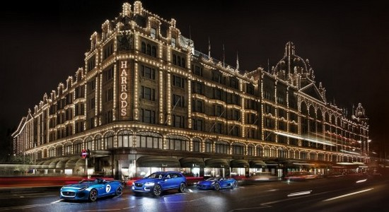 Harrods, jaguar, londres, magasin, Land Rover, C-X75, F-Type, C-X17, exposition