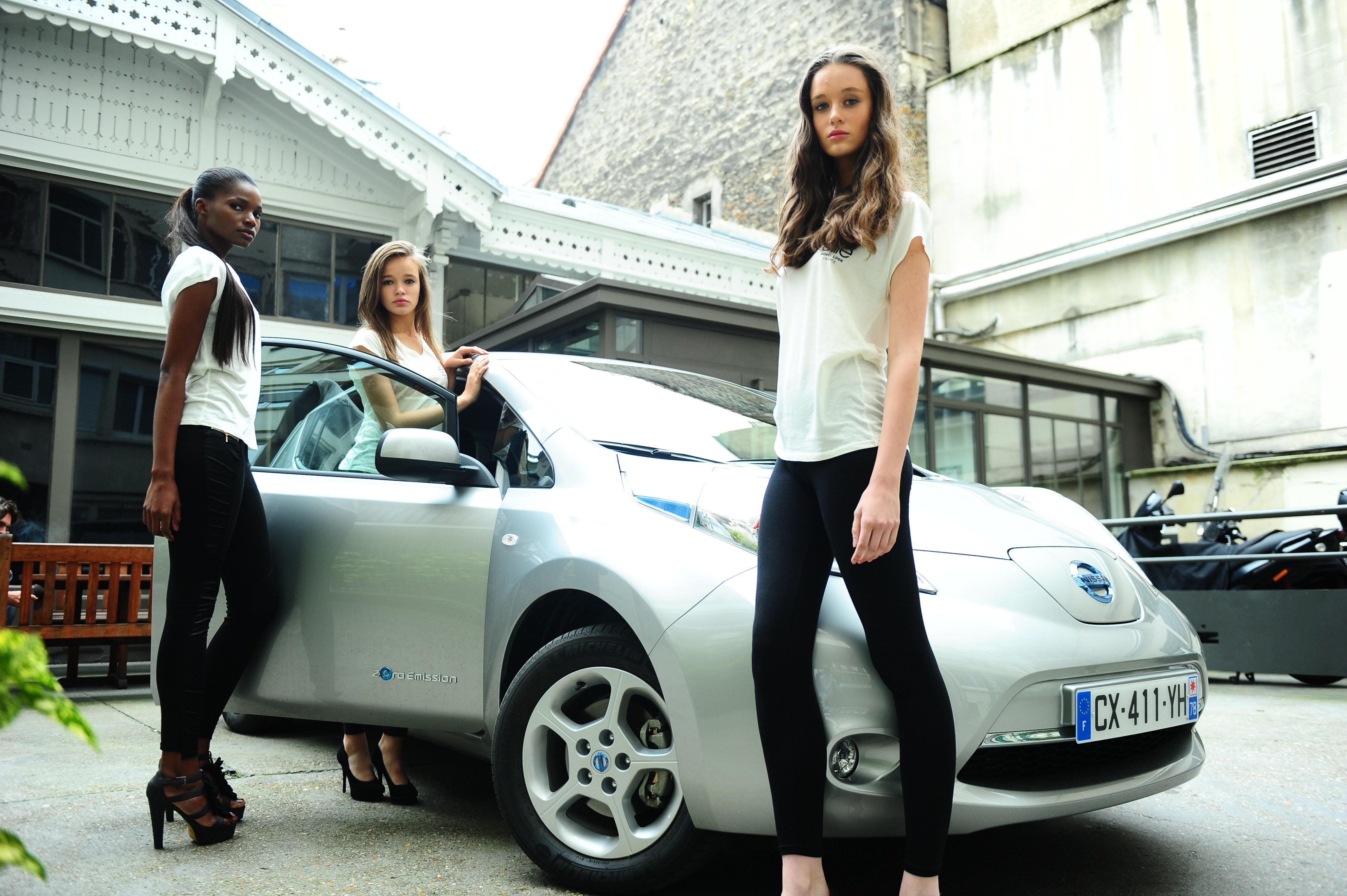 elite model look, concours, mannequin, top model, nissan, leaf, voiture électrique, mode, partenaire