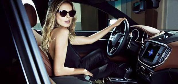 Heidi Klum, mannequin, top model, maserati, ghibli, quattroporte