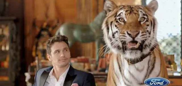 james franco, pub, tigre, ford, super bowl