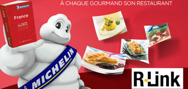 guide michelin, renault, R-link, application, restaurant, hotel, voyage, système multimedia