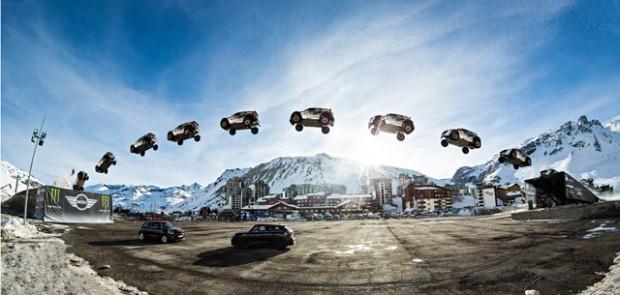 Guerlain Chicherit, saut en longueur, saut voiture, Tignes