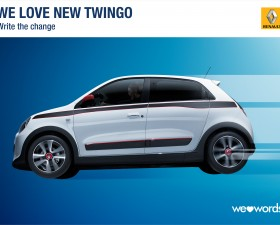 les enjoliveuses, write the change, renault, twingo, welovewords
