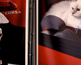 karl lagerfeld, choupette, chat, calendrier, opel, corsa, calendrier opel