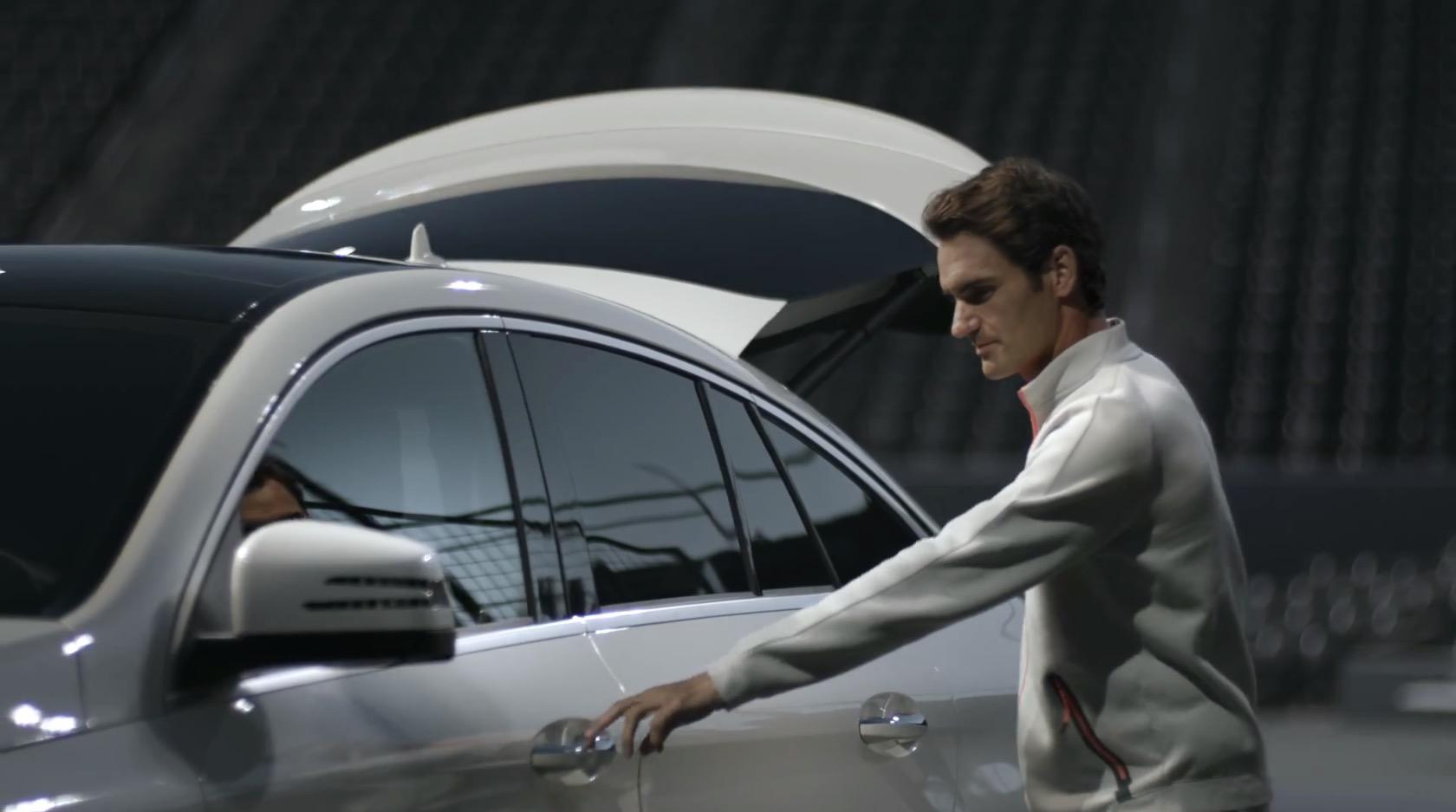 Roger Federer, Mercedes, AMG, GLE63S, coupé, tennis, pub, ambassadeur