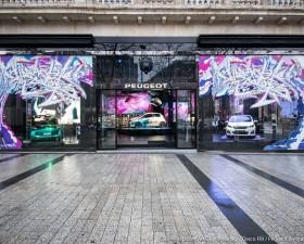 darco, peugeot, peugeot avenue paris, street art, 108, concept car BB1, exposition