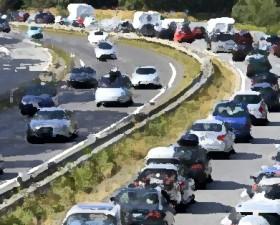 trafic du week-end, bouchon, embouteillage, ascension, jour férié, prevision trafic