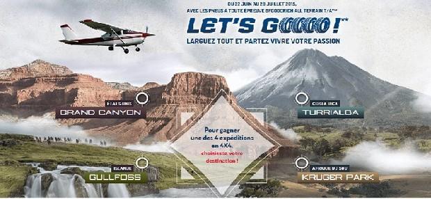 BFGoordich, michelin, concours, all terrain, voyage, let's go