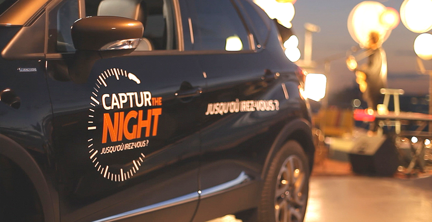 captur the night, captur, renault, pub, nuit blanche