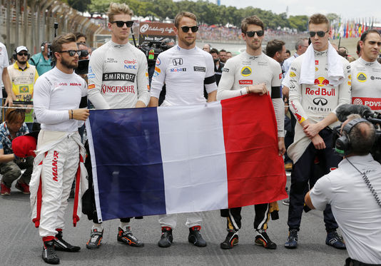 F1, attentats de paris, pray for paris, romain grosjean, FIA, Jean todt