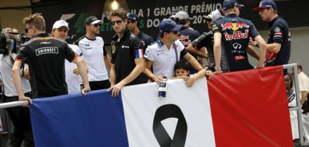 F1, attentat paris, pray for paris, romain grosjean, FIA, Jean todt