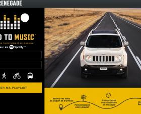 jeep, renegade, spotify, musique, kilometre