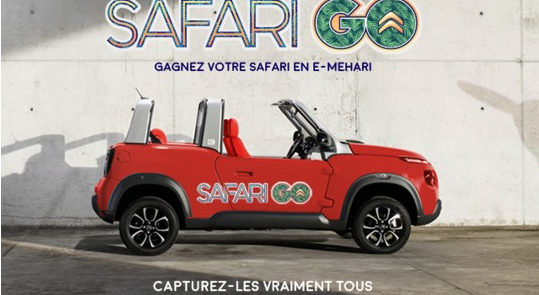 pokemon go, safari go, citroen, e-mehari, concours, paris, safari