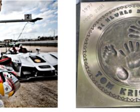 Tom kristensen, empreintes de pilotes, ebay, 24 heures du mans, course endurance, association