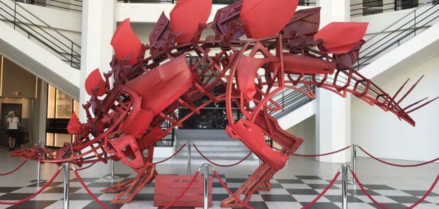 Romain Lardanchet, sculpture, sculpture auto, now coworking, immeuble citroen, carrosserie