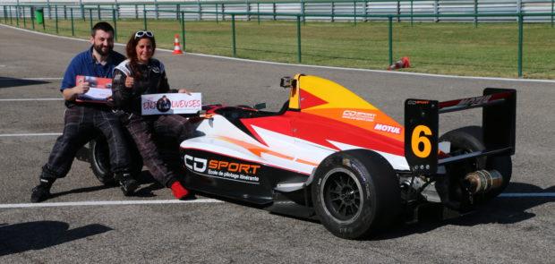 aliette hebert, julien therond, CD Sport, monoplace, formule renault, circuit, stage de pilotage, concours, circuit du laquais